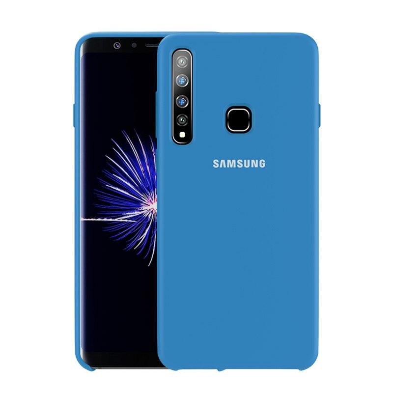 SAMSUNG A9 2018 Case Original Official Genuine Silicone Soft Cover Samsung Galaxy A6 A8 Plus A7 A9 2018 A730 A750 A9200 Case