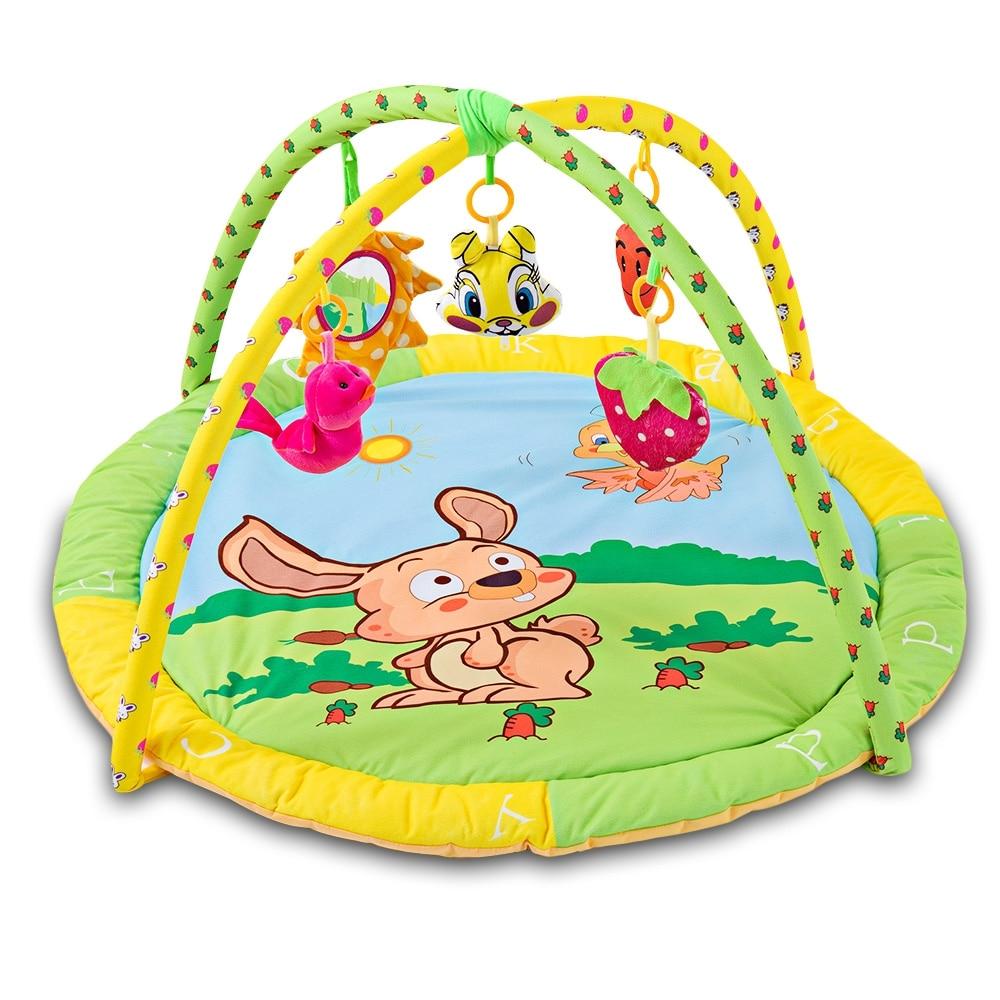 Enthousiast Nieuwe Multifunctionele Zachte Baby Spelen Mat Activiteit Fitness Frame Bed Bel Betalen Gym Speelgoed Floor Crawl Deken Tapijt Met Muzikale Rammelaars
