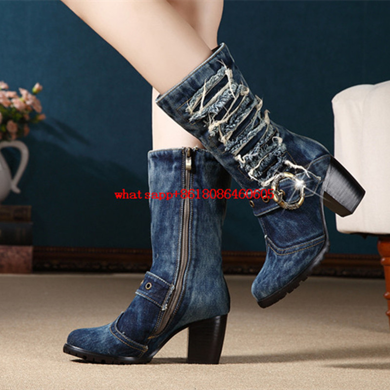 Popular Jeans Cowboy Boots-Buy Cheap Jeans Cowboy Boots lots from ...