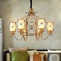 Amerikanischen Dorf Galvani Eisen Gold Bronze Anhänger Lichter Individuelle Kreative Kunst Restaurant Cafe Lampen ZL248 LU71010-in Pendelleuchten aus Licht & Beleuchtung bei