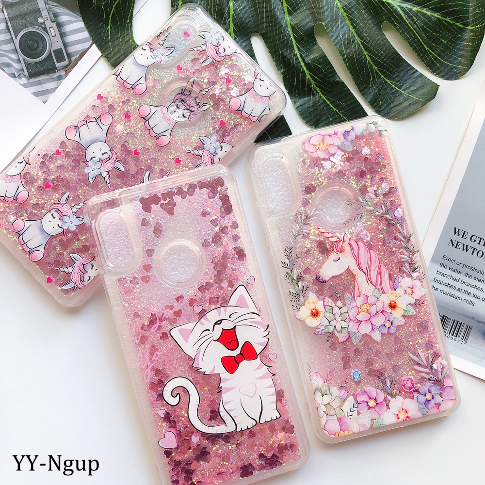 Y6 <font><b>2019</b></font> Cover <font><b>Huawei</b></font> Y5 Y6 <font><b>Y7</b></font> Y9 <font><b>2019</b></font> Phone <font><b>Case</b></font> Kawaii Unicorn <font><b>Glitter</b></font> Liquid <font><b>Case</b></font> on for Etui <font><b>Huawei</b></font> Y5 Y6 <font><b>Y7</b></font> Prime 2018 <font><b>Case</b></font> image