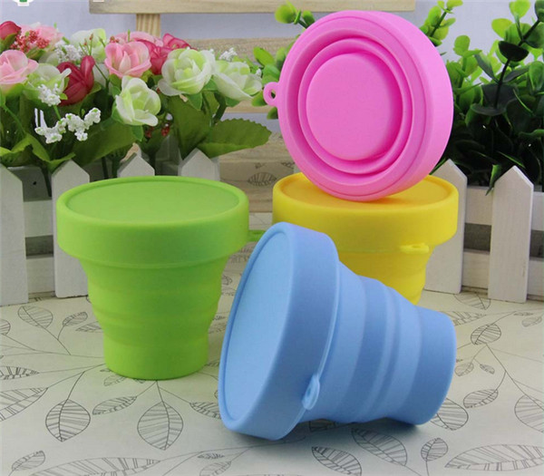 100 pcs Portable Travel Silicone Collapsible Folding Cups Outdoor Sports Camping Hiking Telescopic Gargle Mug