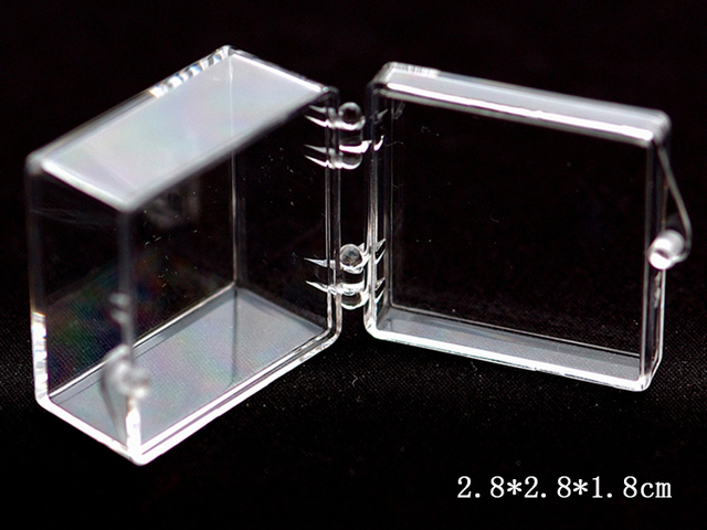 12pcs Lot Small Clear Plastic Box For Earring Rings