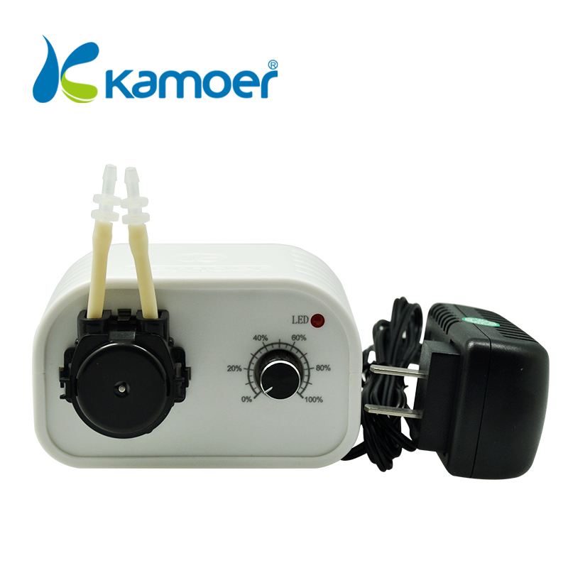 Kamoer NEW KCP Peristaltic Pump (4 Color, Flow adjustable, Easy Use, Small, Running Light Supports) mini water pump 24V kamoer kcp pro lab chemical dosing pump peristaltic pump micro water pump 24v electric pump with flow rate adjustable