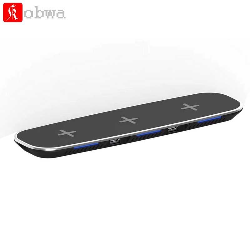 3 en 1 Qi chargeur de bureau sans fil chargeur rapide adaptateur de charge USB pour iphone X iphone 8 Motorola Moto 360 montre intelligente