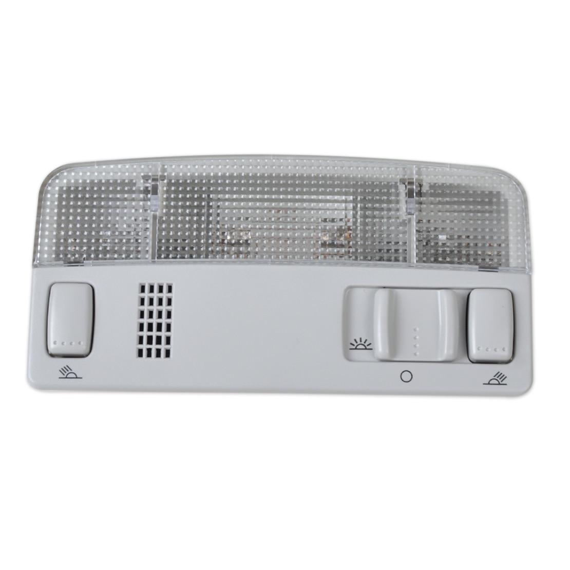 DWCX ITD 947 105 Grey Interior Dome Reading Light Lamp for VW Golf Jetta Bora MK4 Passat B5 1999 2000 2001 2002 2003 2004 cheshunzai interior glove box light storage compartment lamp for vw golf jetta passat b5 bora touran octavia 1j0 947 301