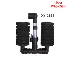 10 pcs Bio Sponge Filter Betta Fry Shrimp Aquarium Fish Tank Double Head XY-2831 Without packaging Practical