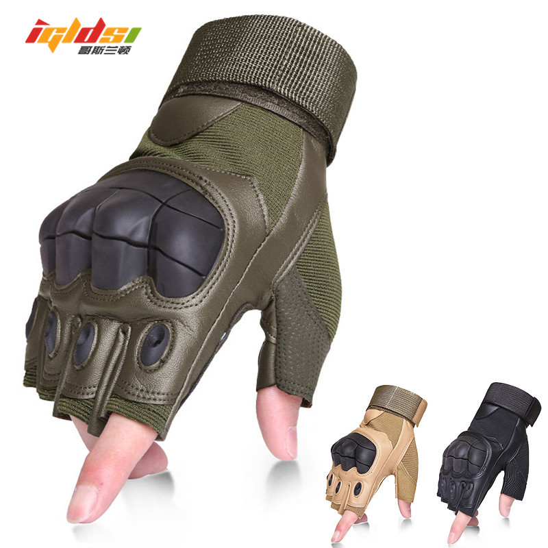 Men Tactical Fingerless Gloves Military Army Sports Mittens Shooting Paintball Airsoft Outdoor Knuckle Half Finger Gloves Gants