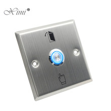 Stainless Steel Door Exit Button With LED Light For Night Use Good Quality Door Control Exit Switch Door Release Button E04L(China)