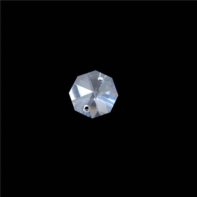Горячая Распродажа! с 3000 шт/партия 12 мм Восьмиугольные Кристаллы с 2 отверстиями, прозрачный цвет