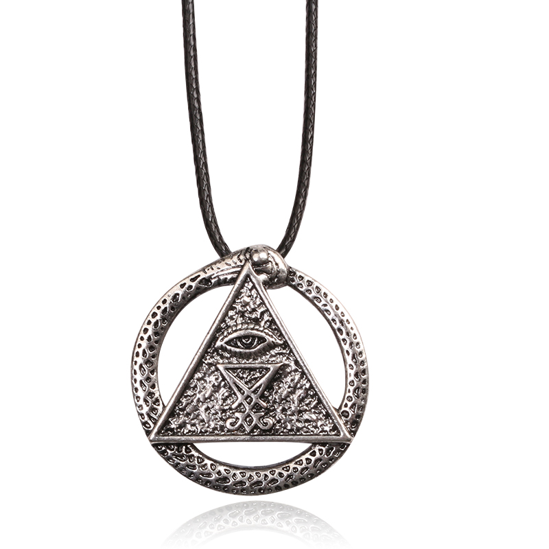 New Style Game king series Yu-Gi-Oh YGO Millenium Puzzle Eye Necklace Pendant Weapon Triangle pendant ...