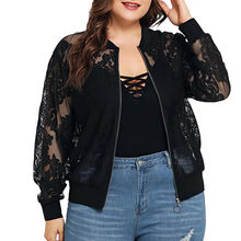 New Arrival Spring Womens Solid Casual Lace Loose Shawl Cardigan Top Cover Up Long Sleeve Plus Size 5XL Korea Style Blouse(China)