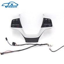 Para Hyundai Elantra Carro AD Bluetooth Telefone Interruptor de Controle de Cruzeiro  Volante Botões Pad Preto d724e9205fb0d