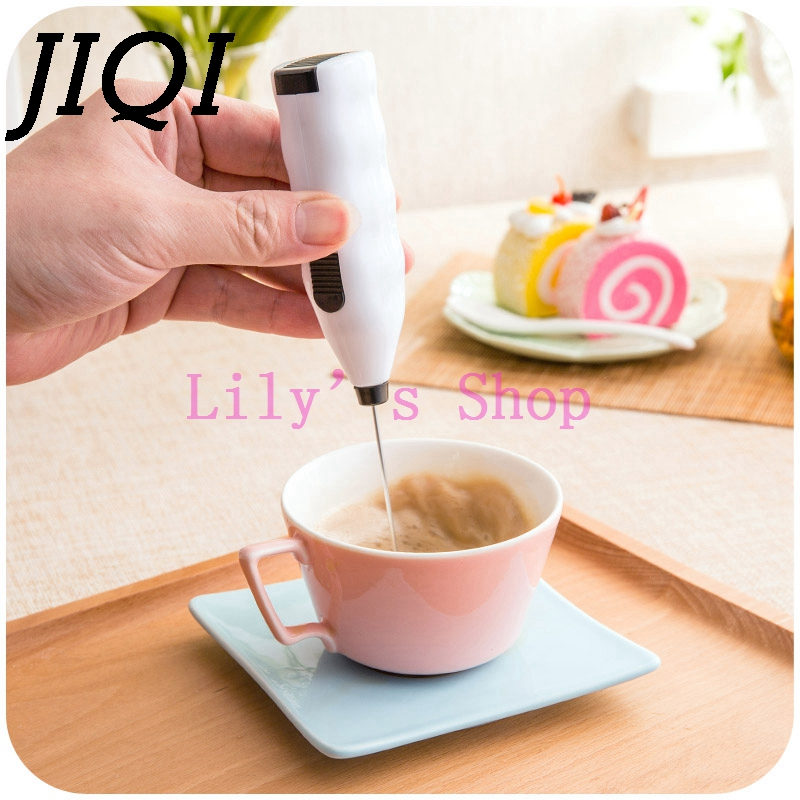Mini Handheld Electric Whisk Mixer Coffee Milk Drink frother foamer rother Egg Beater Handle Mixer Stirrer baking free shipping 5pcs cute long handle plastic coffee milky tea juice stirrer
