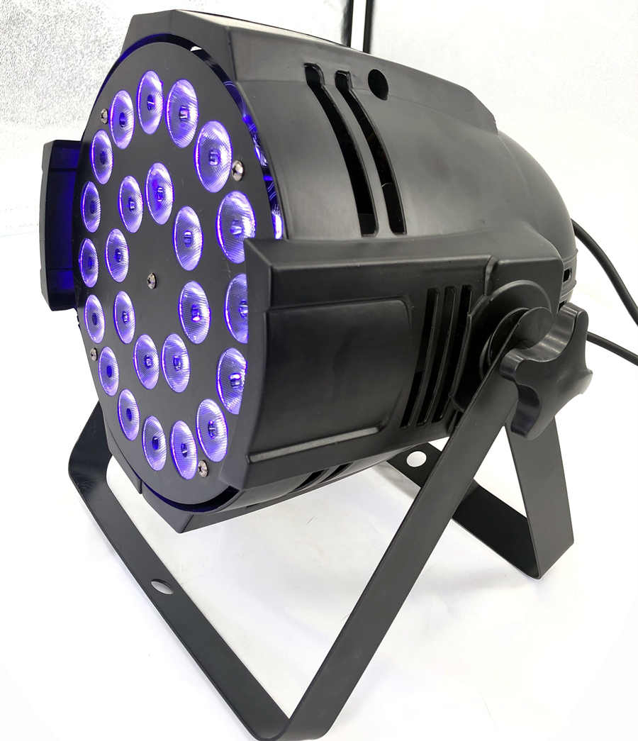 2 Buah 24X18 W Lampu PAR LED Lampu Rgbwa UV 6in1 Lampu PAR LED Lighting DJ DMX DJ cahaya