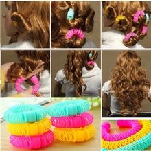 8 шт., новинка, волшебные пончики для волос, для укладки волос, роликовое платье для волос, волшебные бигуди, Спиральные Кудри, инструмент «сделай сам» для женщин, аксессуары для волос