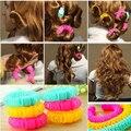 8 piezas nueva magia pelo Donuts pelo de peluquería magia flexible rizador de rizos en espiral herramienta de bricolaje para el pelo de la mujer accesorios