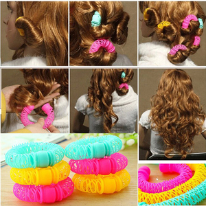 Image 1 - 8Pcs New Magic Hair Donuts Hair Styling Roller Hairdress Magic Bendy Curler Spiral Curls DIY Tool for Woman Hair Accessories