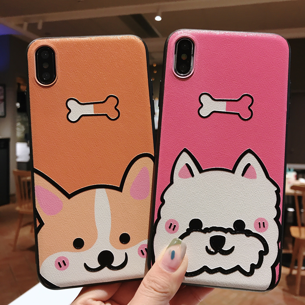 3d Cartoon Corgi Cases For Iphone 6 6s 7 8 Plus X Xs Xr Max Case Soft Tpu Plastic Silk Back Cover Capa Funda