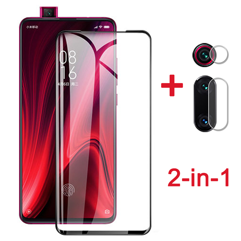 For <font><b>xiaomi</b></font> <font><b>mi</b></font> <font><b>9t</b></font> pro Protective Glass <font><b>Camera</b></font> Lens Film on xiomi redmi k20 pro Full Glue Cover Screen <font><b>Protector</b></font> Tempered Glass 9D image