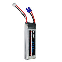 HRB RC Lipo Battery 7.4V 2700MAH 10C 2S EC2 for Helicopter H501S H501C 4-axis Aircraft Quadcopter(China)