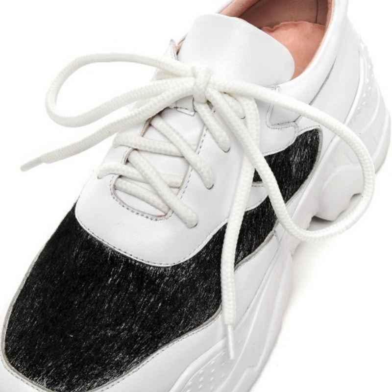 KemeKiss النساء أسافين أحذية رياضية 2019 جلد حقيقي الدانتيل يصل في الهواء الطلق عارضة الركض الأزياء الحصان الشعر أحذية مصممين حجم 34-39