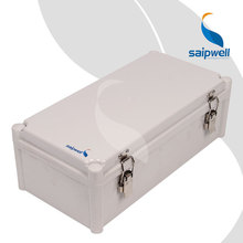 380 190 130mm Metal Agraffe Design Hinge Type Waterproof Box Control Box with Metal Draw Latches