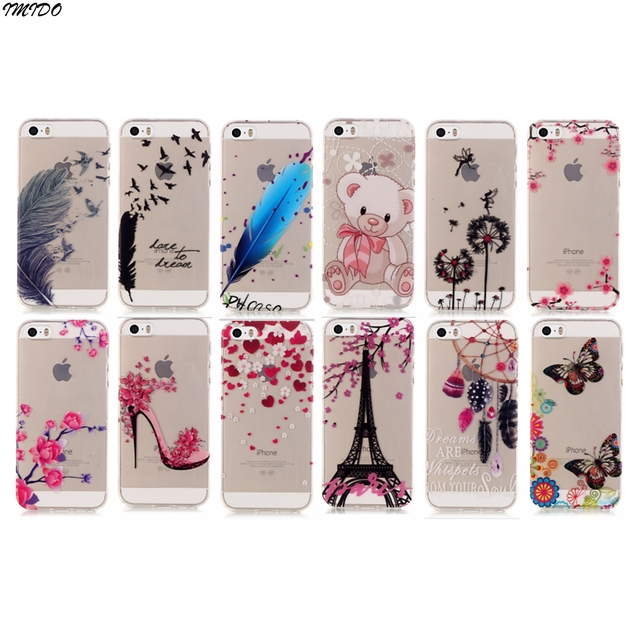 82cb3174673 Case For iphone 5S Case Cover iphone se Silicone Case apple 5 5s se Coque  iphone5s Capa para iphone 5 s fundas 4.0