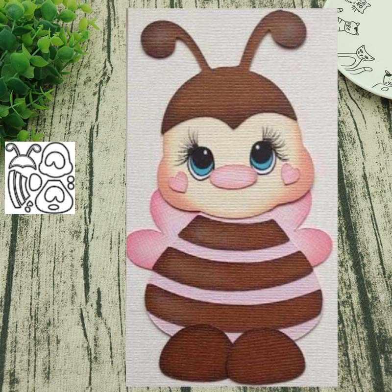 Animal bee 2 metal cutting dies Scrapbooking album paper craft handmade card stencil art cutter