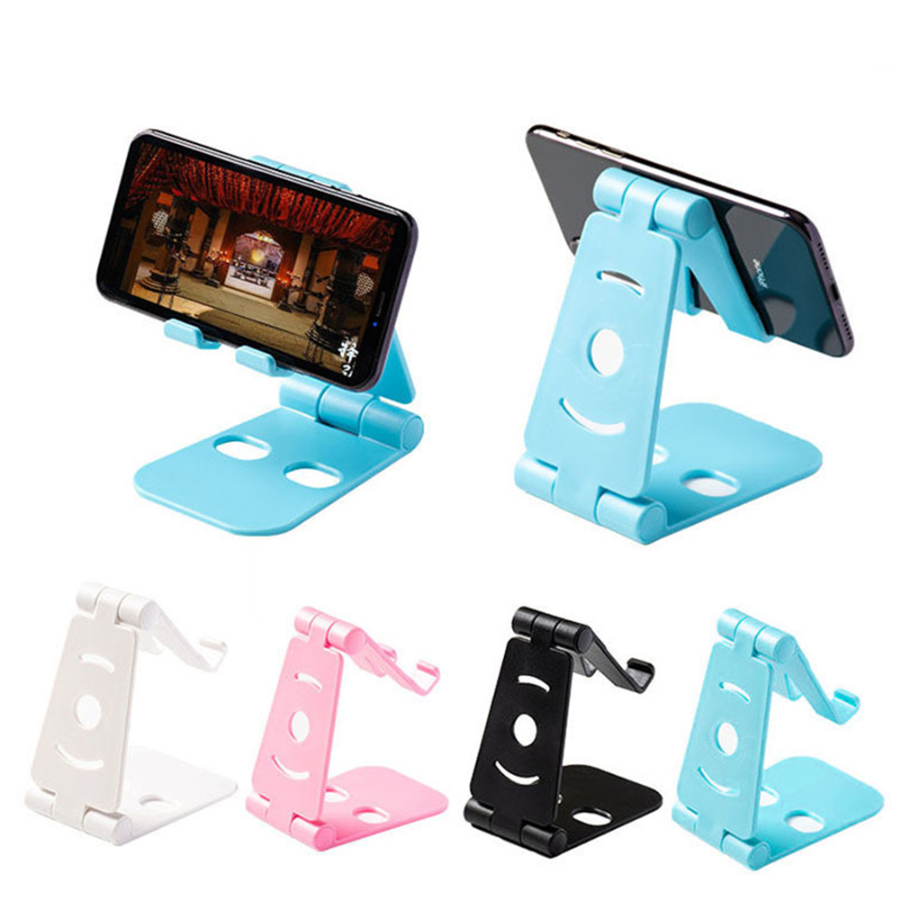 2019 NEW Universal Adjustable Mobile Phone Holder for iPhone Huawei Xiaomi Plastic Phone Stand Desk Tablet Folding Stand Desktop(China)