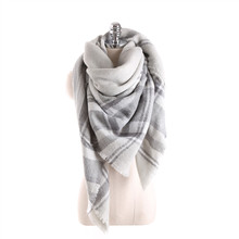 Hot sales Winter Scarf for Women Scarves Luxury Soft Plaid Cashmere 140*140cm Square Bufanda selling