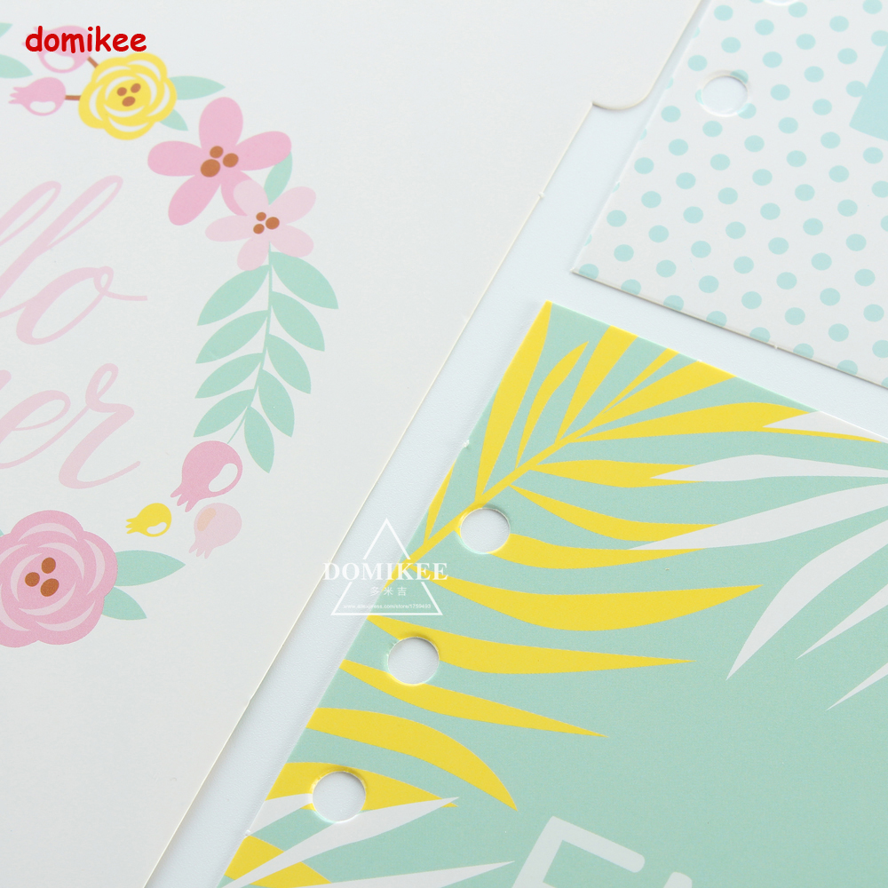 Cute Cartoon Flower 6 Holes Index Paper Dividers For Spiral Notebooksfine Person Diary Binder Planner Notebook Accessories A5A6 In Notebooks From Office
