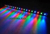 6pcs wholesale DMX512 led wall washer light 36W DC24V 62*63 RGB waterproof rigid bar Landscape lamps DHL Free Shipping