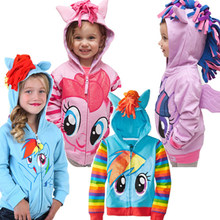 2019 Spring New Little Pony Girls Boys Sweater Children Clothes Kids Jackets Coat Hoodies Clothing Baby Girls Outwear Child Wear(China)