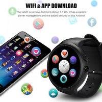 Смарт часы MTK6580 2 GB + 16 GB 3g + gps + WiFi 400 mah Smartwatch напоминание Android 5,1 Носимых устройств