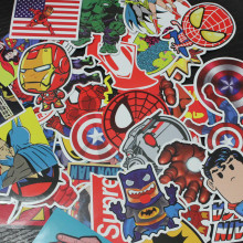 50 pcs Super Hero Marvel Batman Cartoon Stickers For Kids Children Luggage Notebook Laptop Sticker Car-Styling