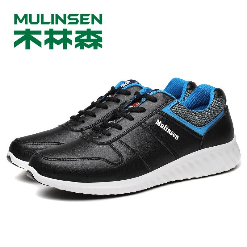 270080 الأحذية mulinsen عارضة الترفيه متعطل الرجال الشقق الأحذية الجلدية تنفس للذكور footear-في أحذية رجالية غير رسمية من أحذية على  مجموعة 1