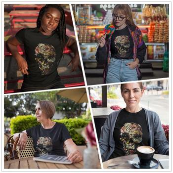 Skull T-Shirt Smyrna Skull T Shirt Casual Print Women tshirt O Neck Cotton Funny Red XXL Short Sleeve Ladies Tee Shirt 1