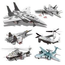 Building Blocks Compatible Brand 472Pcs Military Series Planed Gunship Fighter J15 J20 WZ10 Moc Plane Model Toys For Kids Gifts