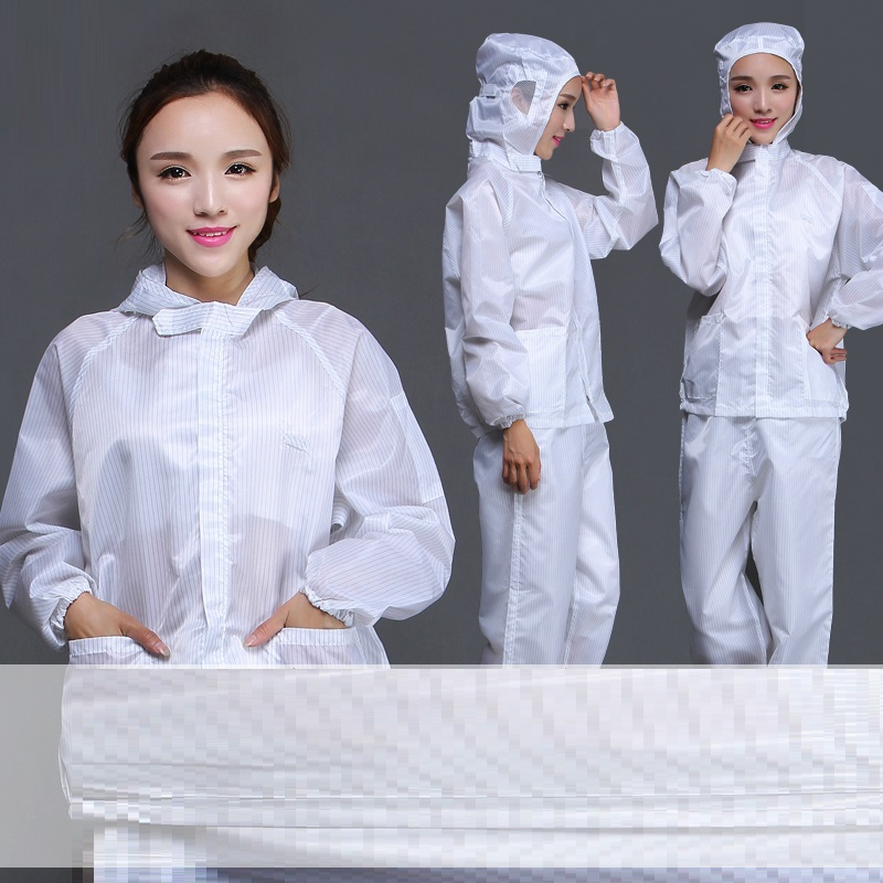 (10 Set)Anti-static Clothing Hats White Fission Overalls Food Overalls Electronics Factory Purification Clean Clothes