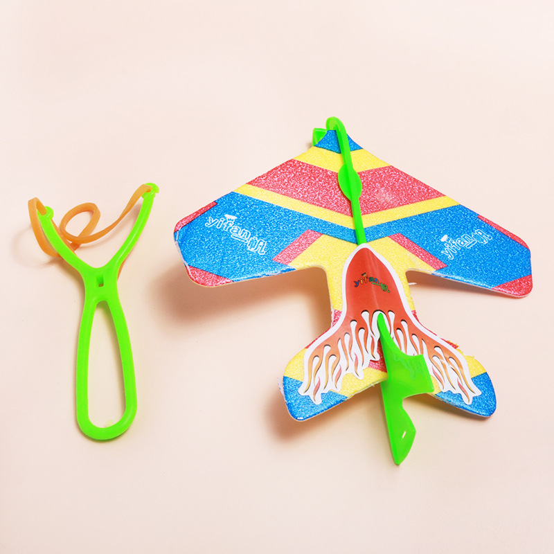 Kids Slingshot Roundabout Aircraft Catapult Glider Plastic Toys For Children Outdoor Funny Toys Gifts LED Toy Flying Kids Toy