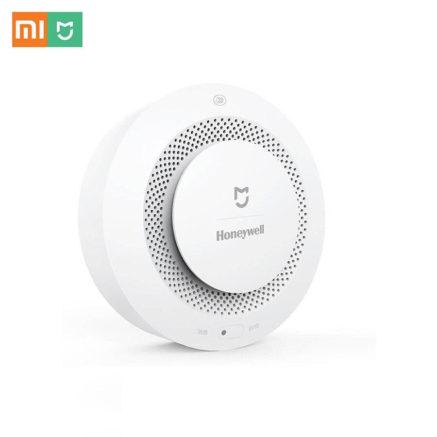 imágenes para Xiaomi Mijia Honeywell Inteligente de Alarma de Incendio del Detector de Sonido Progresivo Sensor de Humo Fotoeléctrico Vinculación Remota Mihome APP