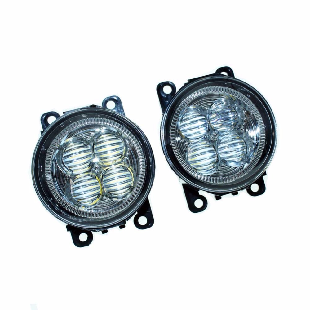 Car Styling Front Bumper LED Fog Lights High Brightness DRL Driving fog lamps 1set For LAND ROVER FREELANDER 2 LR2 2006-2014 dsycar 1pair car styling steering wheel zinc alloy shift paddles for land rover aurora freelander discoverer range rover jaguar