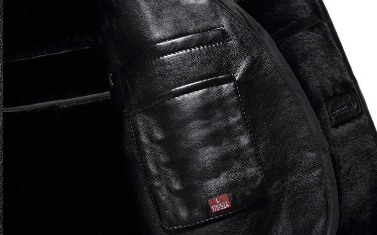 HTB12DGTajzuK1RjSspeq6ziHVXac BATMO 2019 new arrival winter high quality real leather fox fur collars trench coat men ,men's winter Wool Liner parkas AL18