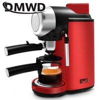 DMWD Electric High Pressure Steam Espresso Maker Semi automatic Italian Coffee Machine 5bar Cappuccino Milk Frother Bubble Foam
