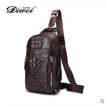 diwei 2017 new hot free shipping import crocodile chest bag young men leisure single shoulder bag luxury l purse men chest bag