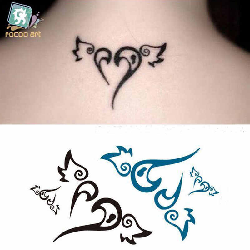 2017 New Hot Sale Ac-084 Harajuku Flash Tattoo Sex Products Waterproof Fake Women Sexy Shoulder Angel Wings Temporary Sticker