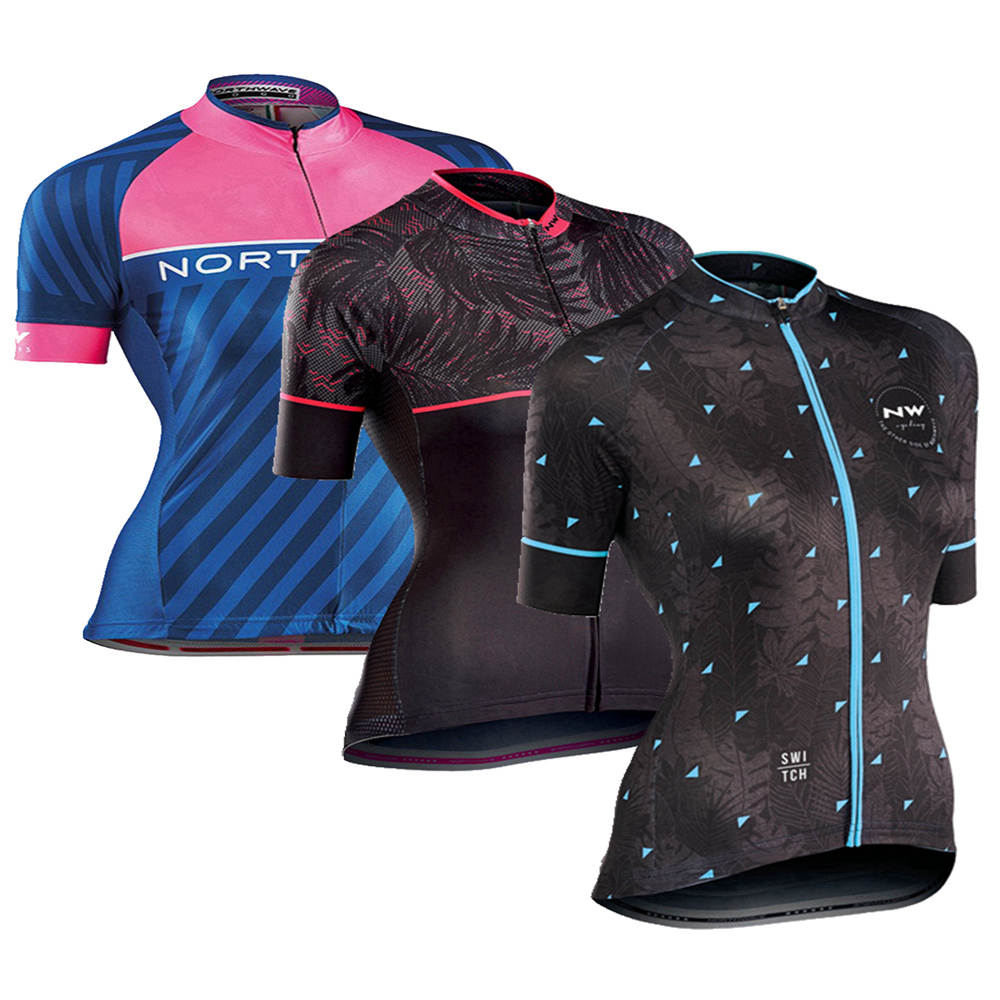 Cycling Jersey Short-Sleeve Northwave Maillot Women Clothing Mtb-Bike NW Ciclismo Pro-Team