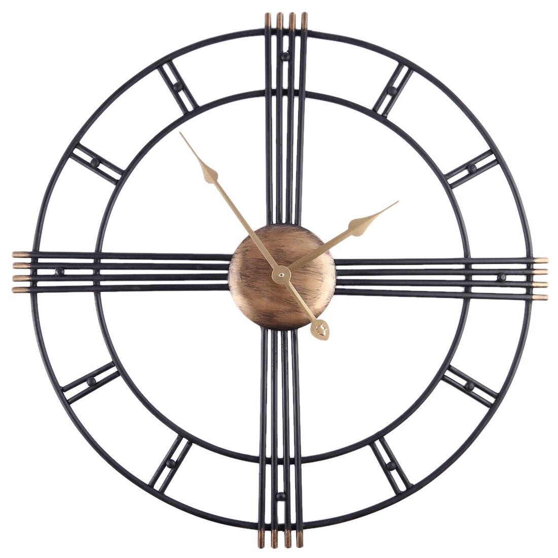 50 centímetros Retro Ferro Arte Antiguidades Mudo Relógios de Parede Home Office Decor Relógio de Parede Em Silêncio Relógio de Quartzo Relógio De Parede Moderna projeto