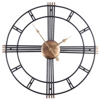 Homingdeco Retro Iron Art Antiquing Mute Wall   Clocks   Home Office Decor Silent Wall   Clock   Quartz Watch Wall   Clock   Modern Design